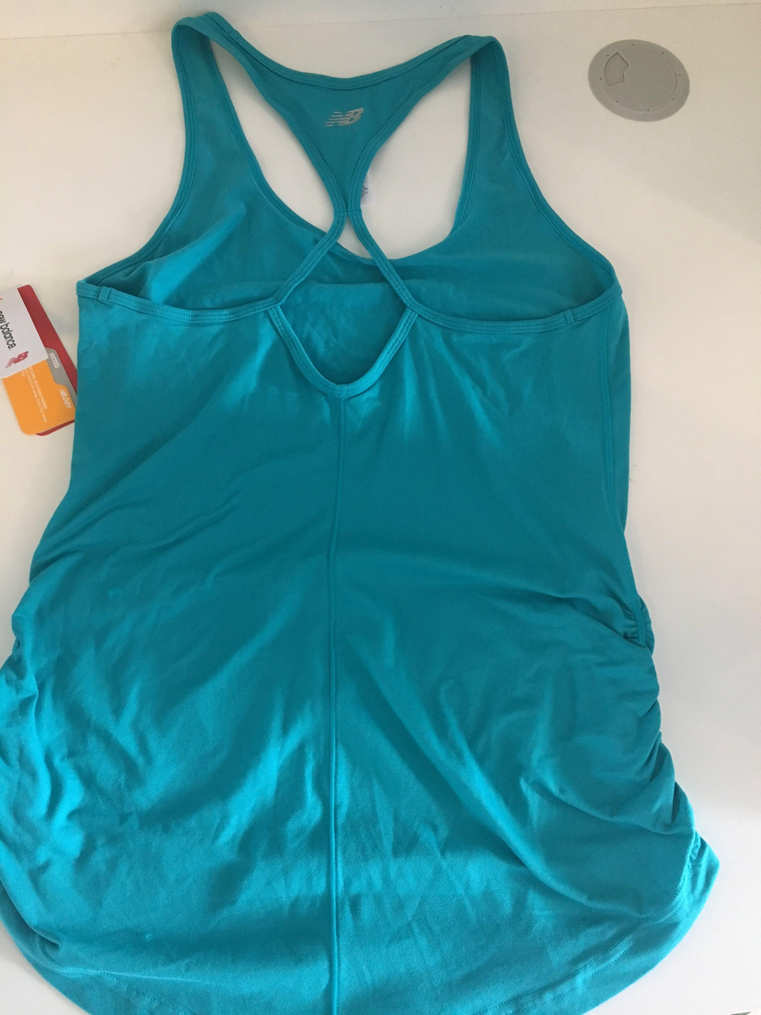 New balance singlet top blue size small new with tags