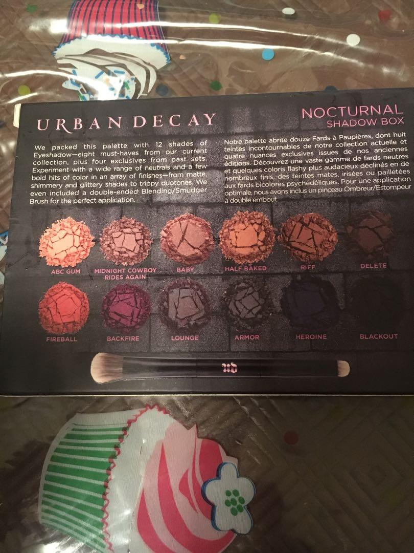 NEW in box Urban Decay Nocturnal eyeshadow palette
