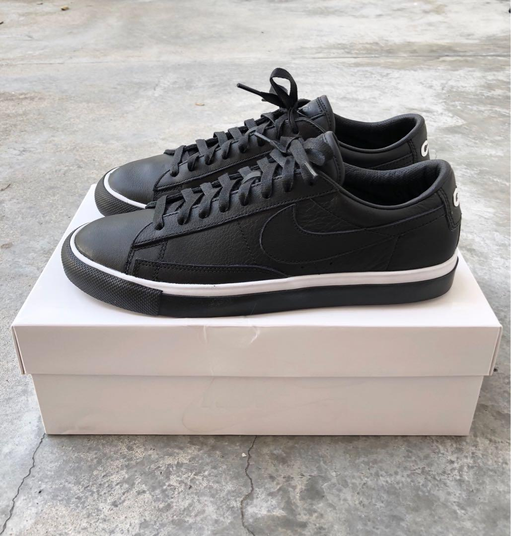 best service 1d7af 040bf Nike CDG Blazer Low Black Leather, Men's Fashion, Footwear ...