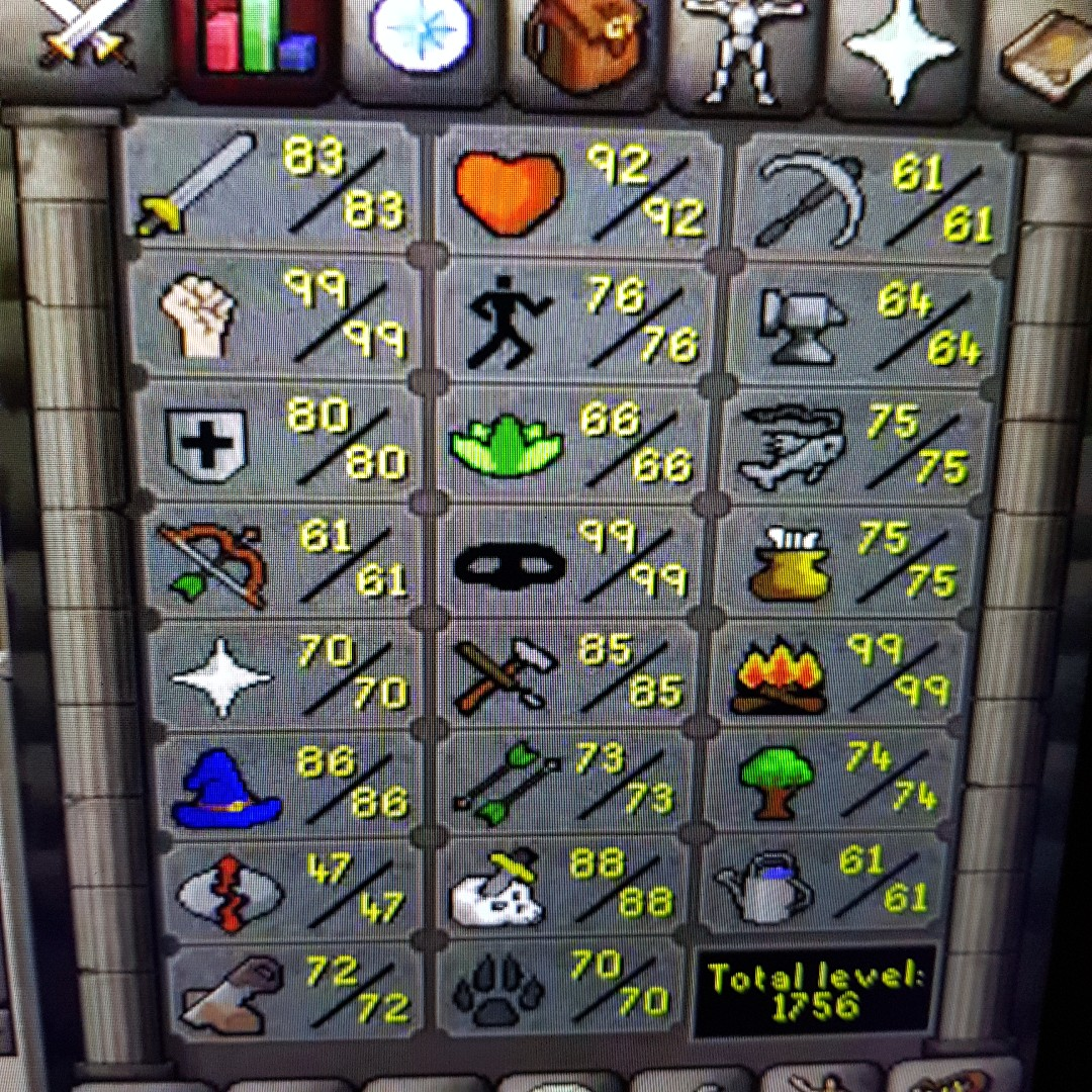 OSRS Main Account 1756 Total Level CHEAP Toys Games Video