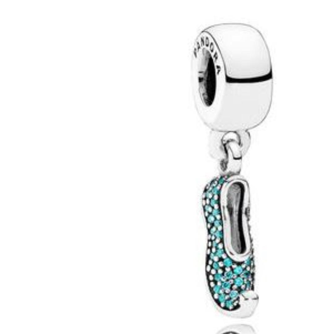 fe3b4cec9 Pandora Charm - Disney, Jasmine's Sparkling Slipper Dangle Charm ...