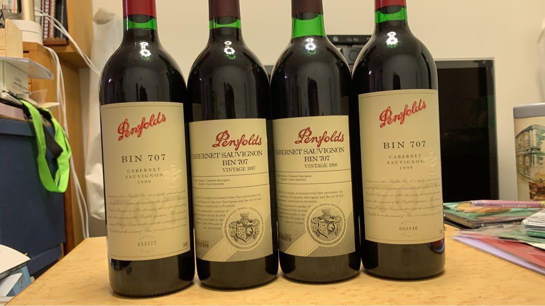 Penfolds Bin 707 1997, 1998, 1999