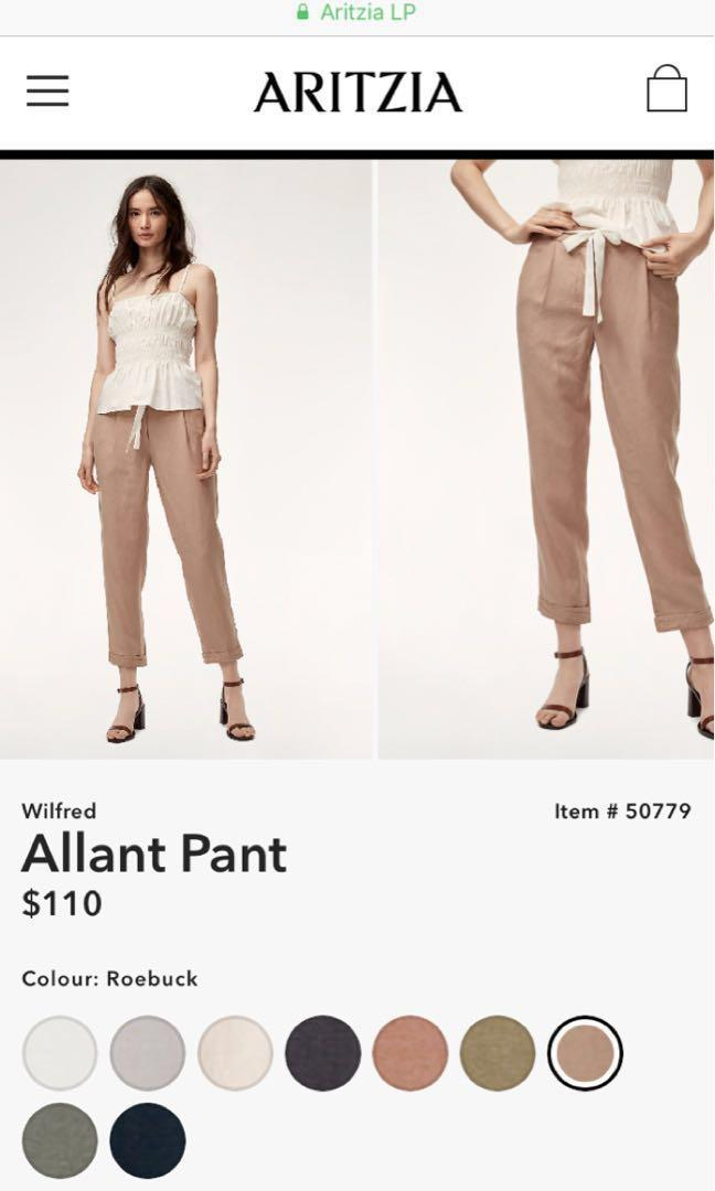 *PRICE DROP* ARITZIA Wilfred Allant Pant