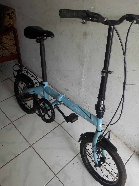 Sepeda Lipat Laux Milan 16 Olah Raga Sepeda Di Carousell