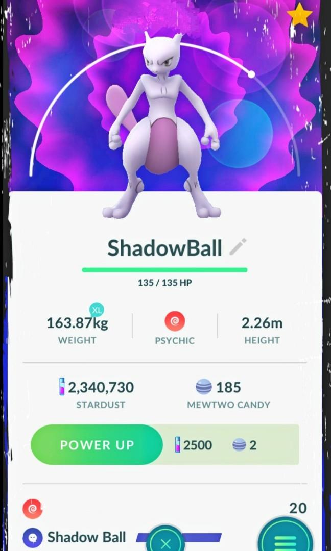 ShadowBall Mewtwo Pokemon Go, Toys & Games, Video Gaming