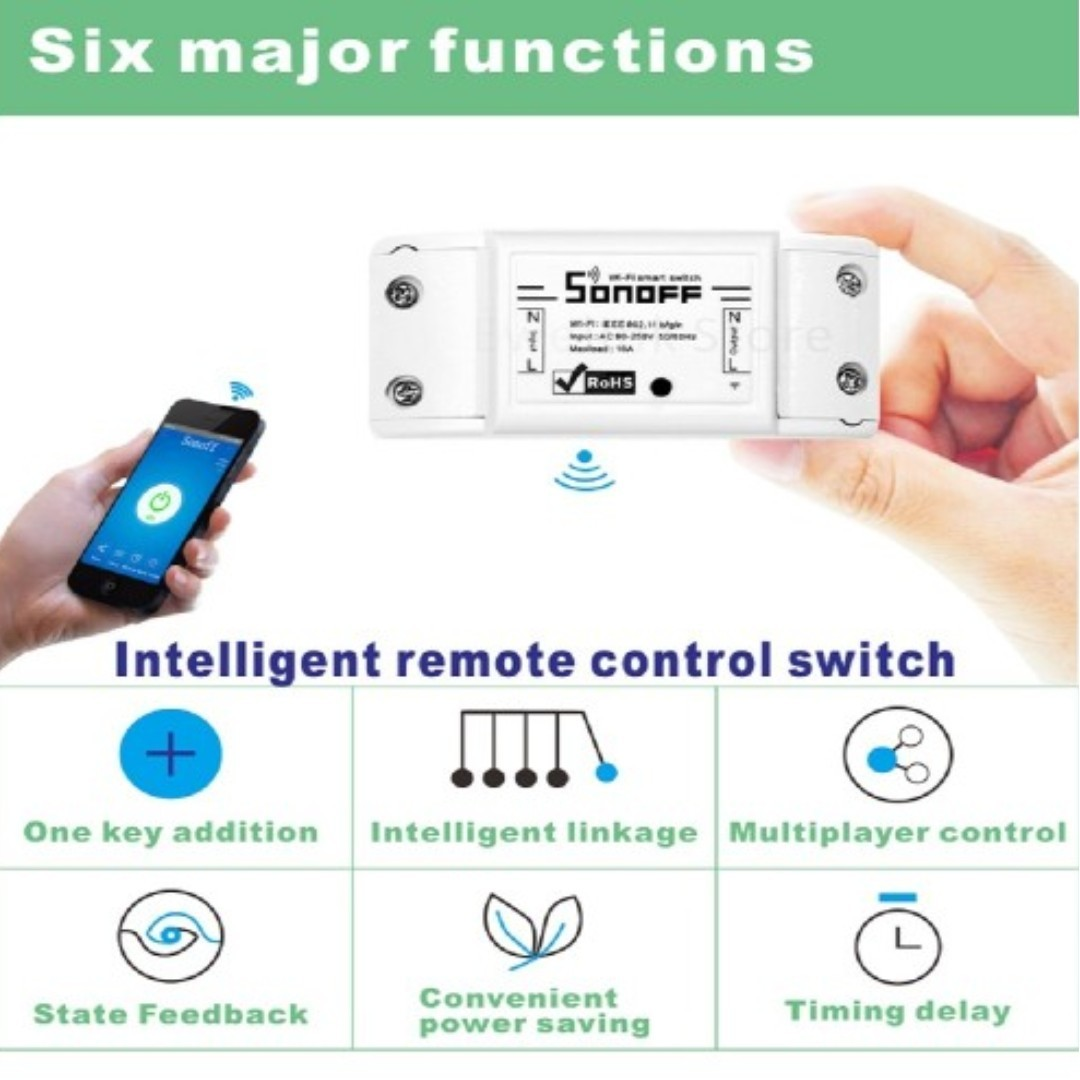 Sonoff Basic - WiFi Smart Switch, APP/ Voice Control with