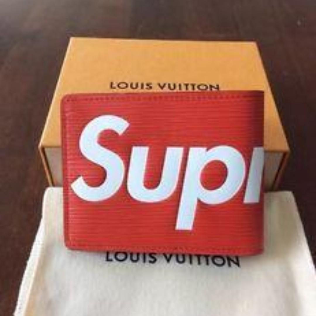 529657a699b SUPREME X LOUIS VUITTON WALLET RED