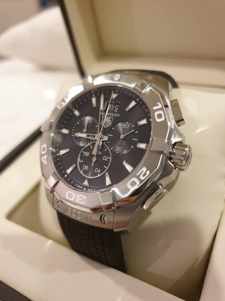 2adc5ffb0d24 Tag Heuer Aquaracer Chronograph Black Dial Men's Watch CAY1110 ...