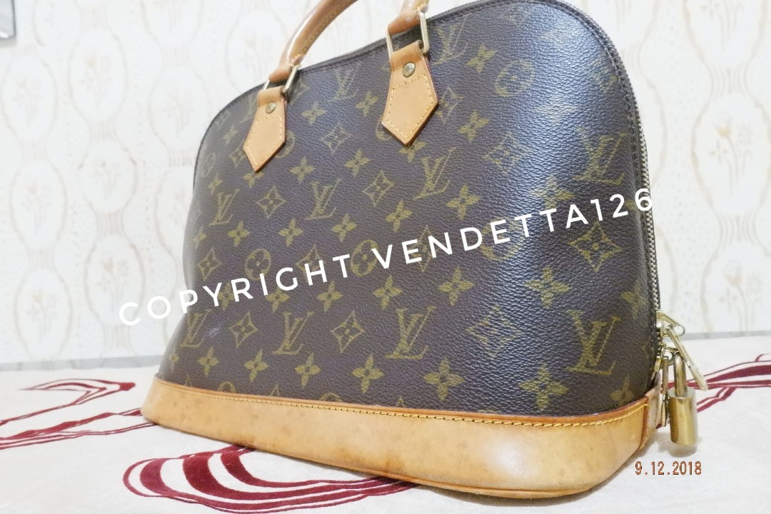 7e72c30bb721 Tas Handbag Louis Vuitton LV ALMA authentic original Preloved not ...