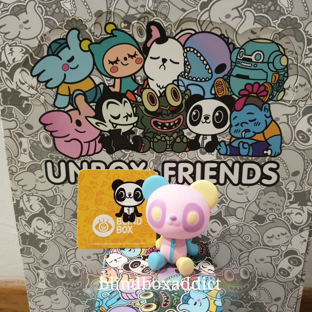 Trade - Unbox & Friends wave 1- color variant Happi Panda - Happi  Playground - for chunk variant or greenie in panda suit