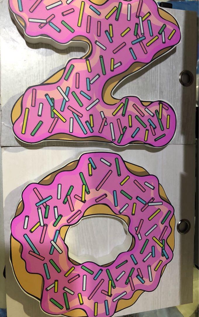 Wooden block letters - N & O