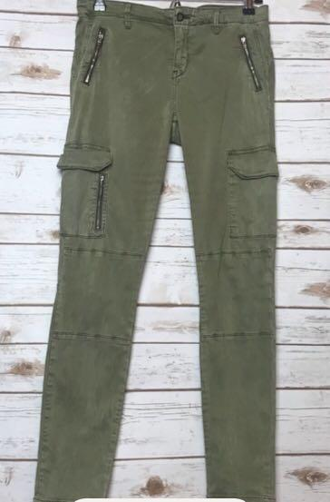 2fe84cbc Zara Woman Skinny Olive Cargo Pants on Carousell