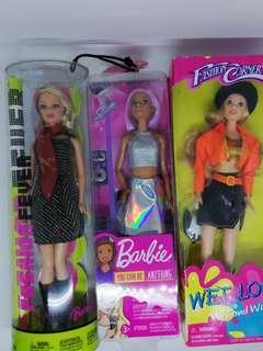 Barbie doll set of 3