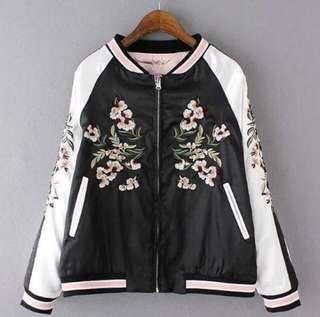 Sakura Reversible Satin Bomber Jacket