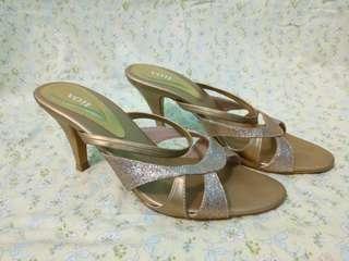 [Sepatu Wanita] Vote High Heels Gold