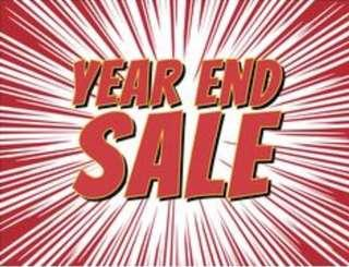 Sale for End Year on selected item!!!