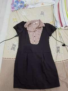 Coco dress in brown