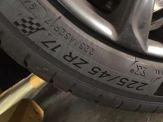 Pilot Sport 4 Tyres 225/45 ZR 17 with BMW Sports Rims