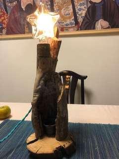 🚚 原木燈