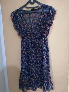 Dress Pesta Biru Semi Formal