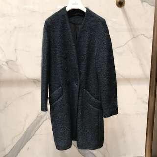 🚚 Zara 深綠馬海毛大衣