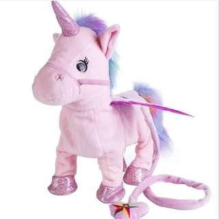 Singing walking Unicorn toy