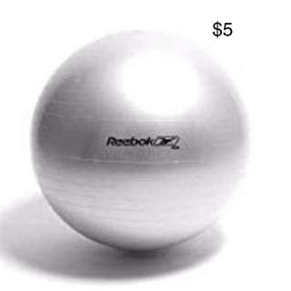 REEBOK Large Gym Ball (Silver)