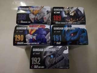 FW Gundam Converge #12 - 188, 189, 191 & 192