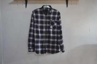 Flannel Black White