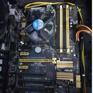 Intel Core i5-4440 + ASUS H87-Pro