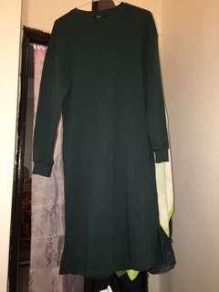 NET長版上衣&洋裝(暗綠色)