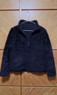 🚚 UNIQLO保暖雙面穿棉絨拉鍊夾克/外套,8成5新,size S(肩36,胸42,袖58,衣長61cm)