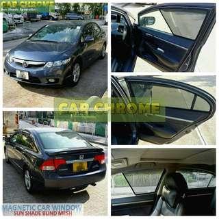 本田 Honda Civic FK8 FK2 FD2 FA1 FN2 ES EK3 EK4 專用全車磁石版本窗網 (MAGNETIC CAR WINDOW SUN SHADE BLIND MESH)