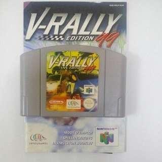 V-Rally 64 Edition Nintendo64 N64 With Manual.