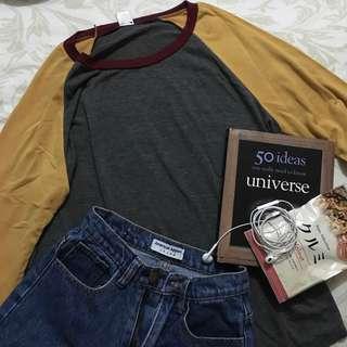 Colorblock raglan sweatshirt