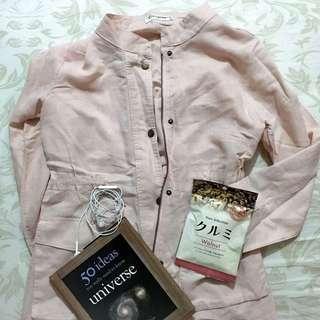 Baby pink cotton coat/jacket