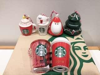 Starbucks Japan Christmas Holiday Ornament Complete Set