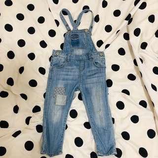 🚚 Zara童裝 女童 個性吊帶褲 連身裝