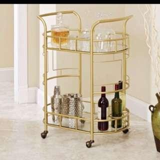 NEW trendy gold bar cart