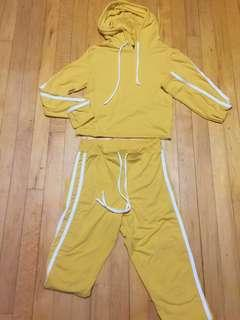 Yellow stripped Tracksuit