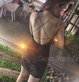 🚚 夜店 尾牙 露背 性感洋裝
