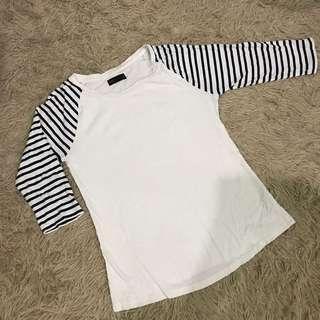 White striped shirt top