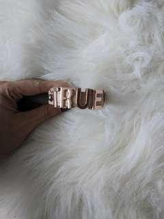 "Bcbg leather ""true"" snap bracelet"