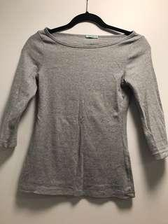 Kookai grey 3/4 sleeve top