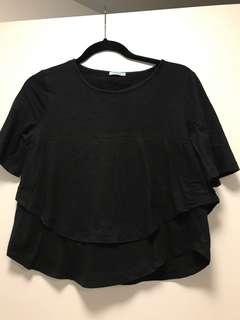 Kookai layered black tshirt