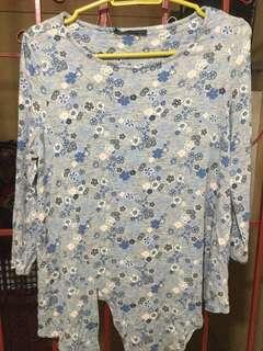 Gray fashionable blouse