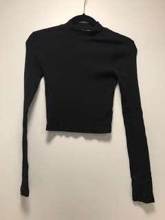 Metalicus black long sleeve top