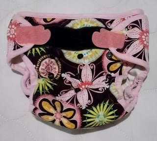Clodi Weehuggers velcro cover - Baby Blooms size 2