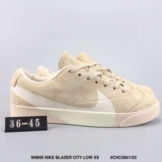 WMNS NIKE BLAZER CITY LOW XS 耐克開拓者低幫板鞋 大勾豬巴戈材質運動文化鞋卡其色