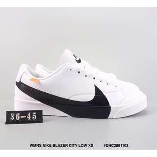 WMNS NIKE BLAZER CITY LOW XS 聯名款 耐克開拓者低幫板鞋 大勾牛皮材質運動文化鞋白黑